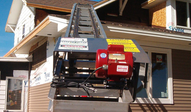 Shingle Elevator Ladder Hoist Conveyor Laddervator