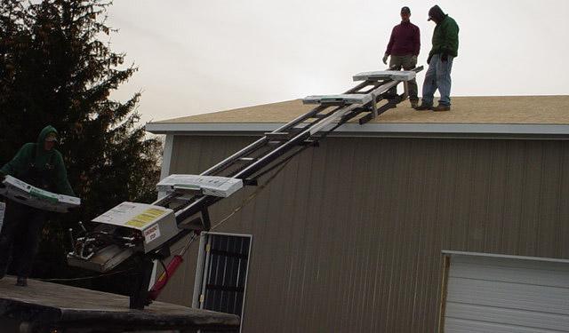 Shingle Elevator Ladder Hoist Conveyor Laddervator